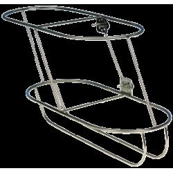 allpa RVS Fenderhouder, schuin model voor 2 stootwillen (links), (Majoni 5)