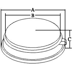 allpa RVS Kajuitlamp met matte lens, halogeen, 12V - 20W, met schakelaar