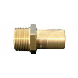 Hep2o Messing aansluitstuk 1-2 budr.x 15 mm