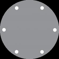 Johnson Pomp RVS deksel voor pomp F7B (met groeven voor O-ring)