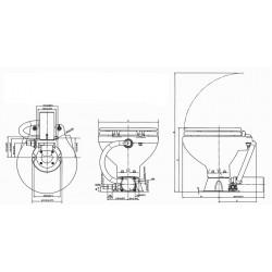 allpa AquaT standard-electric scheepstoilet, 24V-7A, compact pot met bedienpaneel