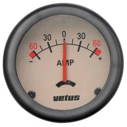 Amperemeter 12-24V +-- 60 A - D=52mm