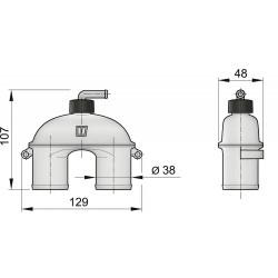Beluchter 38mm met klep