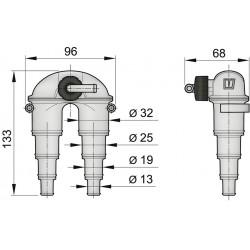 Beluchter 13-32mm met klep