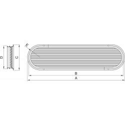Luchtaanzuigpoort type 25 geanodiseerd (excl doradebox)