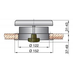 Paddestoelventilator type ATHOS1 RVS316