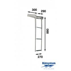 RVS telescopische ladder, 3 treden