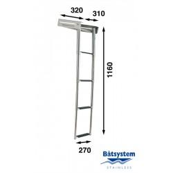 RVS telescopische ladder, 4 treden