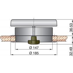 Paddestoelventilator type Dartagn1 RVS316
