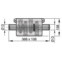 Vetus kunststof demper type MP45