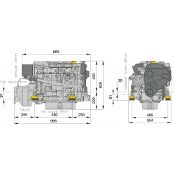 Engine DT470 12V-1p No gearbox, Intercooling