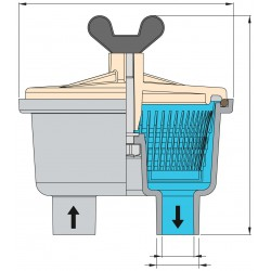 Filter koelwater slangaansluiting 28,5mm