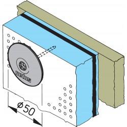 Bevestigingsplaatjes (15) voor geluiddempende plaat