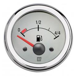 Brandstofniveaumeter wit 12V diameter 52mm