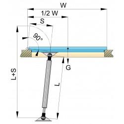 Gasveer AISI 316 220-305mm + aansluitingen