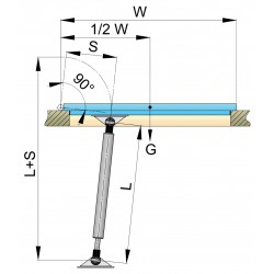 Gasveer AISI 316 280-440mm + aansluitingen