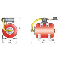 Hydrophoor 12V 19ltr druktank