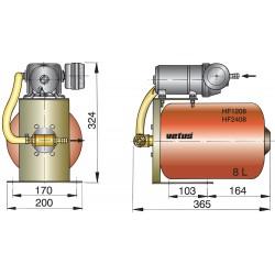 Hydrophoor 24V 8 ltr druktank