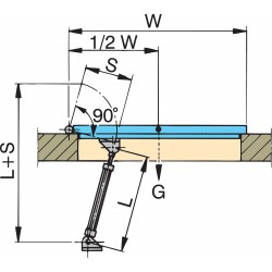 Elektro-hydraulisch hefsysteem l= 500mm 24V, 125 kgf