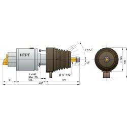 Stuurpomp type HTP3008T met kantelbare as
