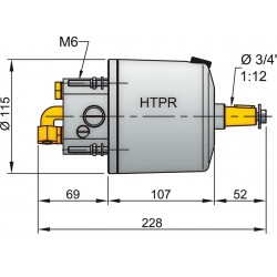 Stuurpomp, HTP30, 10mm opgeb. terugslag-overdruk klep