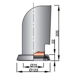 Luchthapp type Jerry, RVS316, met witte binnenkant