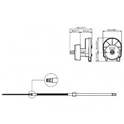 M58 stuurkabel 3.97 m