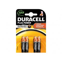 DURACELL PLUS MN2400, AAA, 4-PACK
