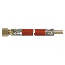 GASLEIDING 30CM 8MM KNEL X 8MM GLAD