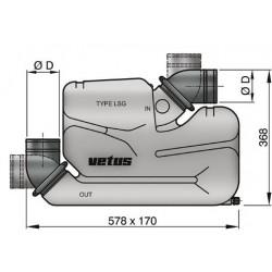 Kunststof waterlock type LSG75
