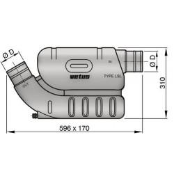 Kunststof waterlock LSL60