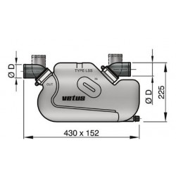 Waterlock type LSS , D 50 mm