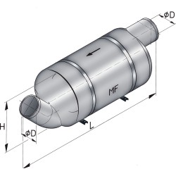 Vetus kunststof demper type mf 90 incl.bev.kit
