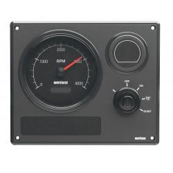 Motorpaneel type MP21 12V, Zwart (0-4000 rpm)