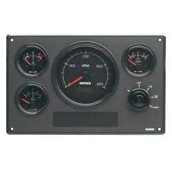 Motorpaneel type MP34 12V, Zwart (0-4000 rpm)