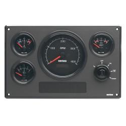 Motorpaneel type MP34 24V, Zwart (0-4000 rpm)