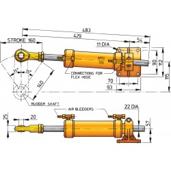 Cilinder type MTC125, pijp D 10mm