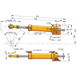 Cilinder type MTC175, pijp D 10mm