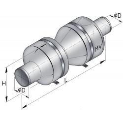 Vetus kunststof demper type mv 90 incl.bev.kit