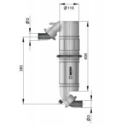 Geluiddemper - Zwanehals NLPG kunststof 45mm