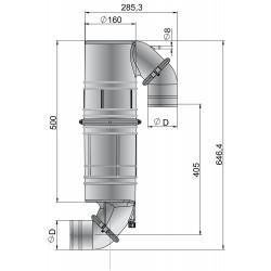 Geluiddemper - zwanehals NLPG kunststof 90mm