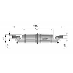 Waterlock - Geluidsdemp. NLPH horiz. kunststof 40mm