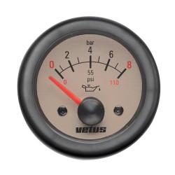 Oliedrukmeter 12V 0-8 kg-cm2 D52mm beige