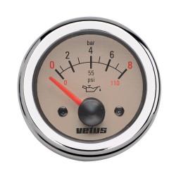 Oliedrukmeter 24V 0-8 kg-cm2 D52mm beige