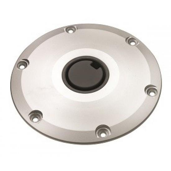 Base plate for deck for removable pedestals