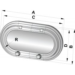 Patrijspoort type PM161 CE-A1 375x175