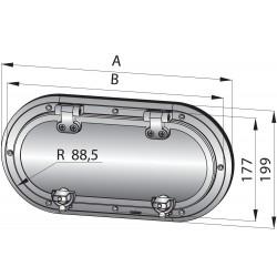 RVS 316 patrijspoort type PMS23, A1 kwaliteit