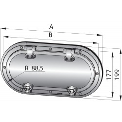 RVS 316 patrijspoort type PMS24, A2 kwaliteit