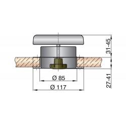 Paddestoelventilator type Portos 1 RVS316