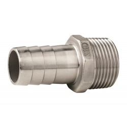 Hose connector AISI 316 male G1''